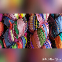 Sari Silk Ribbon Yarns - NEW RECYCLED SILK     prices from