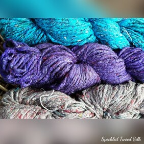 Speckled Tweed Silk Yarn