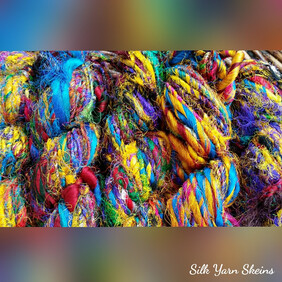 Indian Sari Silk Yarn - Skeins - Prices from